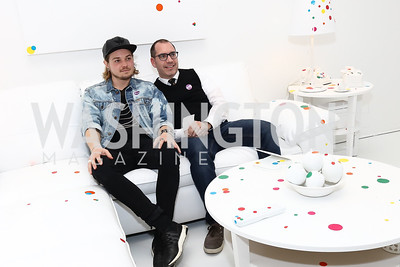 Ryan Schweitzer, Kevin Cuddy. Photo by Tony Powell. Yayoi Kusama|Infinity Mirrors VIP Opening and Dinner. Hirshhorn Museum. February 22, 2017