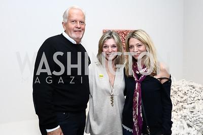 Jack Davies and Kay Kendall, Katherine Kendall. Photo by Tony Powell. Yayoi Kusama|Infinity Mirrors VIP Opening and Dinner. Hirshhorn Museum. February 22, 2017