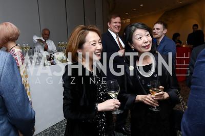 Sachiko Kuno, Nobuko Sasae. Photo by Tony Powell. Yayoi Kusama Infinity Mirrors VIP Opening and Dinner. Hirshhorn Museum. February 22, 2017