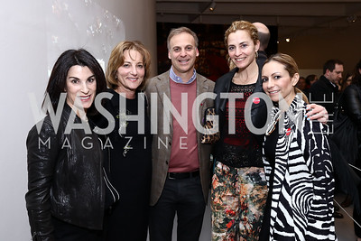 Tracy Bernstein, Elizabeth Duggal, Adam Bernstein, Ami Aronson, Pilar O'Leary. Photo by Tony Powell. Yayoi Kusama|Infinity Mirrors VIP Opening and Dinner. Hirshhorn Museum. February 22, 2017