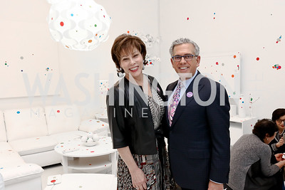 Sarah Valente, Fred Ognibene. Photo by Tony Powell. Yayoi Kusama Infinity Mirrors VIP Opening and Dinner. Hirshhorn Museum. February 22, 2017
