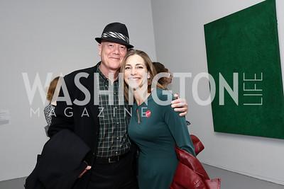Bill Allman, Rachel Goslins. Photo by Tony Powell. Yayoi Kusama|Infinity Mirrors VIP Opening and Dinner. Hirshhorn Museum. February 22, 2017