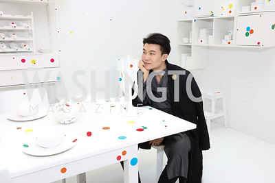 Michael Xufu Huang. Photo by Tony Powell. Yayoi Kusama|Infinity Mirrors VIP Opening and Dinner. Hirshhorn Museum. February 22, 2017