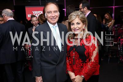Leo Sahakian, Annie Totah. Photo by Tony Powell. Yayoi Kusama|Infinity Mirrors VIP Opening and Dinner. Hirshhorn Museum. February 22, 2017