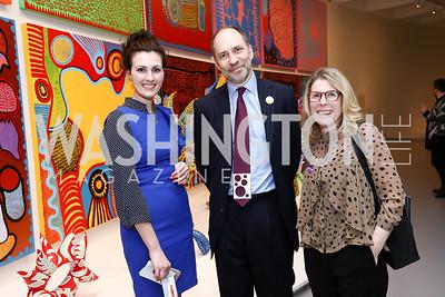 Allison Peck, Marcus Brauchli, Peggy McGlone. Photo by Tony Powell. Yayoi Kusama|Infinity Mirrors VIP Opening and Dinner. Hirshhorn Museum. February 22, 2017