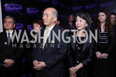 Japan Amb. Kenichiro Sasae and Nobuko Sasae. Photo by Tony Powell. Yayoi Kusama|Infinity Mirrors VIP Opening and Dinner. Hirshhorn Museum. February 22, 2017