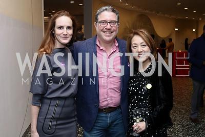 Kate Goodall, David Gorodetski, Sachiko Kuno. Photo by Tony Powell. Yayoi Kusama Infinity Mirrors VIP Opening and Dinner. Hirshhorn Museum. February 22, 2017