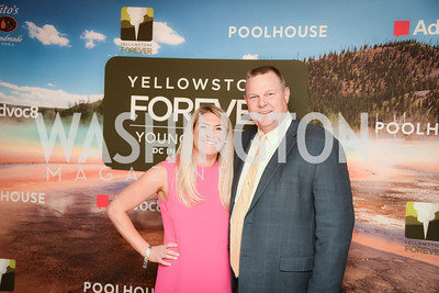 Jackie Rooney, Senator Jon Tester, Yellowstone Forever Young Patrons Benefit, The Hawthorne, May 4, 2017. Photo by Ben Droz