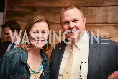 Heather White, Senator Jon Tester, Yellowstone Forever Young Patrons Benefit, The Hawthorne, May 4, 2017. Photo by Ben Droz