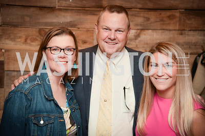 Heather White, Senator Jon Tester, Jackie Rooney, Yellowstone Forever Young Patrons Benefit, The Hawthorne, May 4, 2017. Photo by Ben Droz