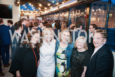 Julia Cohen, Patti Rooney, Heather White, Celeste Rooney, Robert Mathias, Yellowstone Forever Young Patrons Benefit, The Hawthorne, May 4, 2017. Photo by Ben Droz
