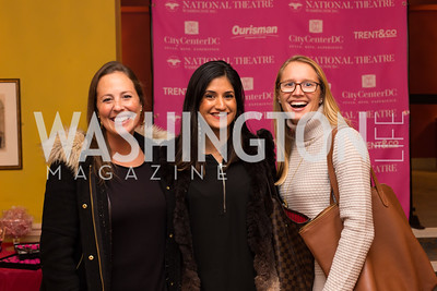 Anne Lenrow, Molly Dhir, Charlotte Jahn Young Patrons National Theatre Fundraiser November 30, 2017 Photo by Naku Mayo