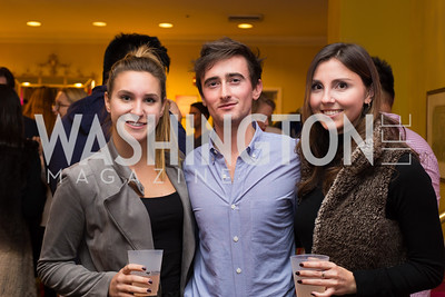 Megan Stanojev, Nathaniel Park, Dora Isopescu Young Patrons National Theatre Fundraiser November 30, 2017 Photo by Naku Mayo