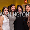 Emily Patch, Caroline Orr, Erika Taylor, Lindsey Robinson Young Patrons National Theatre Fundraiser November 30, 2017 Photo by Naku Mayo