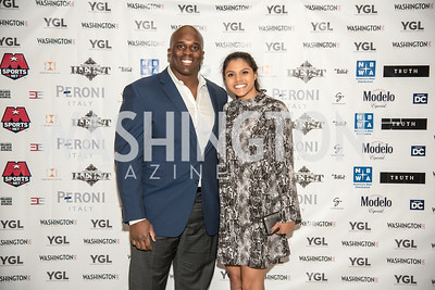 Arie Kouandjio, Brittany Thomas, Washington Life Magazine, The Young and the Guest List, YGL, Union Station, November 10, 2017, photo by Ben Droz.