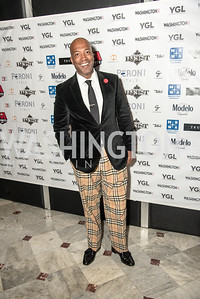 Barnette Holston,  wearing Burberry, Washington Life Magazine, The Young and the Guest List, YGL, Union Station, November 10, 2017, photo by Ben Droz.