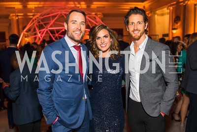 Scott Thuman, Erin Como, Chris Smith. Photo by Alfredo Flores. Young & the Guest List. Presidential Suite and East Hall of Union Station. November 10, 2017.