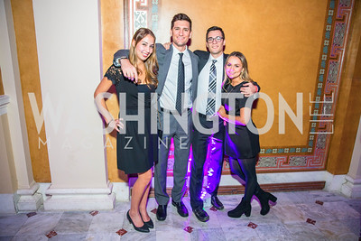 Haley Raphael, Jesse Mates, Jared Marcotte, Paige Ravesteijn. Photo by Alfredo Flores. Young & the Guest List. Presidential Suite and East Hall of Union Station. November 10, 2017.