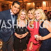 Jose Duran, Lauren Anderson, Tierney Caputo, Claire Marfyak. Photo by Alfredo Flores. Young & the Guest List. Presidential Suite and East Hall of Union Station. November 10, 2017.