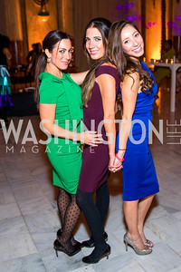 Anastasia Dellaccio, Suzanne Kianpour, Andi Coronado. Photo by Alfredo Flores. Young & the Guest List. Presidential Suite and East Hall of Union Station. November 10, 2017.
