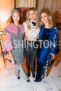 Holly Pan, Anchyi Wei, Violetta Markelou. Photo by Alfredo Flores. Young & the Guest List. Presidential Suite and East Hall of Union Station. November 10, 2017.