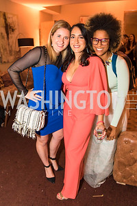 Laura Wainman, Catherine Trifilett, Morgan Fykes. Photo by Alfredo Flores. Young & the Guest List. Presidential Suite and East Hall of Union Station. November 10, 2017.