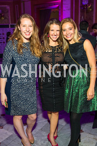 Amelia Friedman, Erin Janklow, Kelly O'Malley. Photo by Alfredo Flores. Young & the Guest List. Presidential Suite and East Hall of Union Station. November 10, 2017.