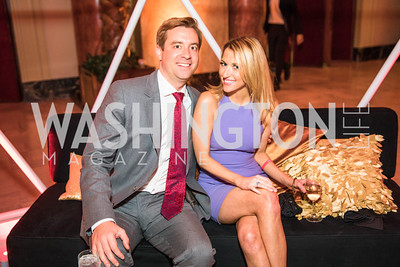 Nick Pappagiorgio, Lilias Craven. Photo by Alfredo Flores. Young & the Guest List. Presidential Suite and East Hall of Union Station. November 10, 2017.