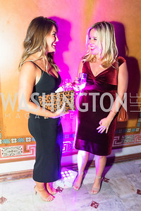 Sarah Asterbadi, Caitlin Dietze. Photo by Alfredo Flores. Young & the Guest List. Presidential Suite and East Hall of Union Station. November 10, 2017.