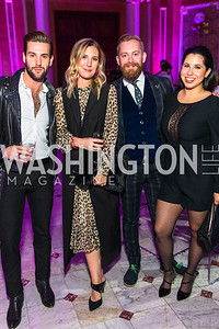 Dan Roberge, Meg Biram, Jared Field, Ashley Arias. Photo by Alfredo Flores. Young & the Guest List. Presidential Suite and East Hall of Union Station. November 10, 2017.