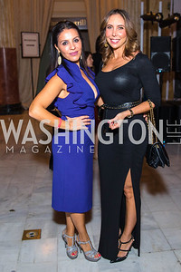 Lily Talakoub , Evelyn Miller . Photo by Alfredo Flores. Young & the Guest List. Presidential Suite and East Hall of Union Station. November 10, 2017.