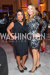 Gina Dakkouni, Ashley Forrester. Photo by Alfredo Flores. Young & the Guest List. Presidential Suite and East Hall of Union Station. November 10, 2017.
