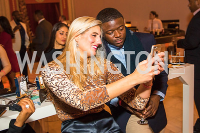 Jill Phaneuf, Nigel Okunubi. Photo by Alfredo Flores. Young & the Guest List. Presidential Suite and East Hall of Union Station. November 10, 2017.
