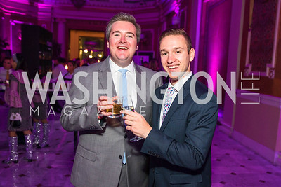 John McCarthy, Riley Kilburg. Photo by Alfredo Flores. Young & the Guest List. Presidential Suite and East Hall of Union Station. November 10, 2017.