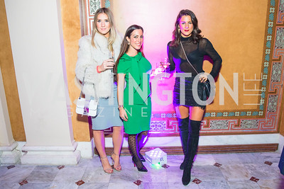 Lindsey Nolan, Anastasia Dellaccio, Arina Voznesenskaya. Photo by Alfredo Flores. Young & the Guest List. Presidential Suite and East Hall of Union Station. November 10, 2017.