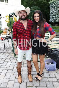 Jason Zuccari, Suad Nsouli. Photo by Tony Powell. Jason Zuccari 30th Birthday Party. September 16, 2017