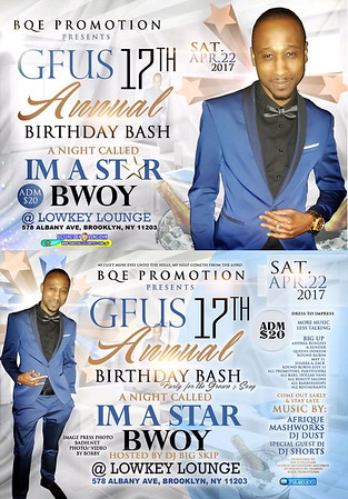 "G-FUS ANNUAL BIRTHDAY ""I'M A STAR BWOY 2017""(15)"