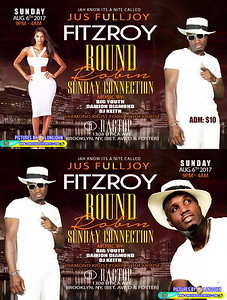 Sun. Aug. 6 (BOOKED) (FITZROY'S SUNDAY CONNECTION)