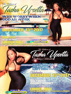 Wed. Dec. 13 (BOOKED) TASHA UPSETTA's RETURN