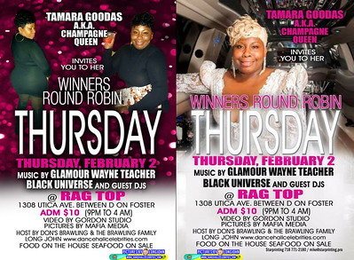 Thr. Feb. 2 (BOOKED) TAMARA GOODAS WINNERS ROUND ROBIN