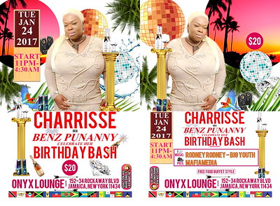 Tue. Jan. 24 (BOOKED) CHARRISSE / BENZ PUNANNY B'DAY BASH