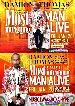"DAMION THOMAS present his annual ""MOST INTRIGUING MAN ALIVE 2017""(20)"