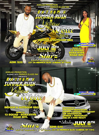 "BRAXTON KOOLAS & MARK ""SUMMER RUSH YELLOW & WHITE BBQ 2017""(155)"