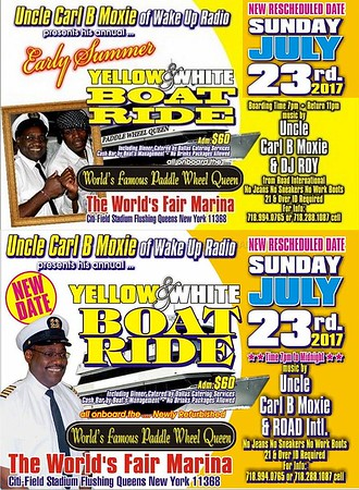 "CARL B MOXIE ""YELLOW & WHITE BOATRIDE 2017""(20)"