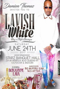 Sat. June 24 (BOOKED) DAMION THOMAS ALL WHITE DAY BBQ PARTY