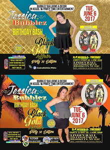 Tue. June 6 (BOOKED) JESSICA / BUBBLEZ B'DAY DIRTY 30 EDITION