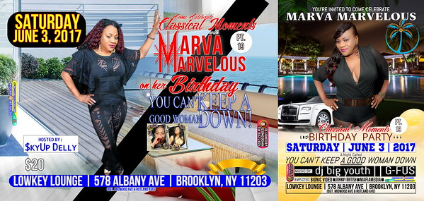 Sat. June 3 (BOOKED) MARVA MARVELOUS