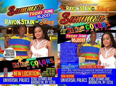 Fri. June 16 (BOOKED) RAYON STAIN'S SUMMER INDOOR COLORS BEACH PARTY