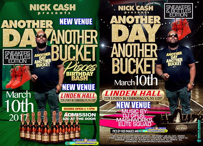 "NICK CASH present ""ANOTHER DAY / ANOTHER BUCKET BIRTHDAY BASH""(20)"