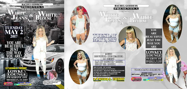 Tue. May 2 (BOOKED) RACHEL GODDESS' ALL WHITE AFFAIR
